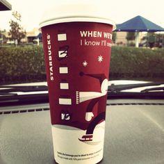 Starbucks during the winter time, awe!