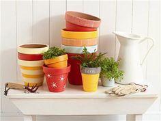 Martha Stewart Crafts™ Painted Flowerpots