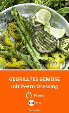 Gegrilltes Gemüse - mit Pesto-Dressing - smarter - Kalorien: 118 Kcal - Zeit: 30 Min. | eatsmarter.de