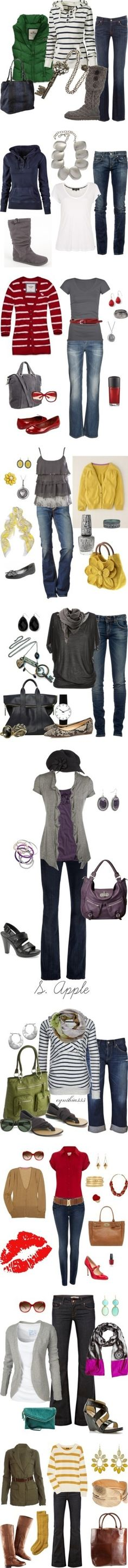 Every day style - love these outfits by Sacagawea