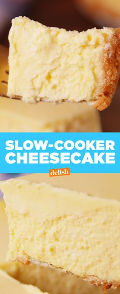 Desserts : Making Slow Cooker Cheesecake Video - How to Slow Cooker Cheesecake Video Slow Cooker Desserts, Crock Pot Desserts, Köstliche Desserts, Delicious Desserts, Crock Pots, Cooker Cheesecake, Cheesecake Recipes, Crock Pot Cheesecake, Best Slow Cooker