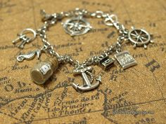 """""""Pirates of the Caribbean Charm Bracelet Disney Inspired by Life is the Bubbles."""" although this probably should've gone to my nerd alert board.."""