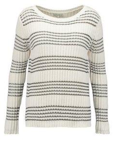 Sweter - off-white/black