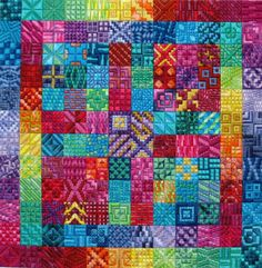 Amazing Color - Needlepoint Pattern by Needle Delights Originals. When did needlepoint get so colourful?