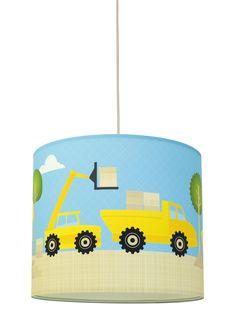 Ideal Tolle Kinder Baustelle und Bagger lampenschirm von annawand UNDER CONSTRUCTION lampshade