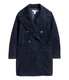 Sweater Dressed: H&M wool-blend coat in dark blue / Garance Doré