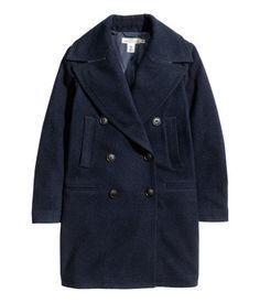 Sweater Dressed: H&M wool-blend coat in dark blue / Garance Doré