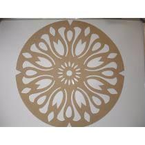 Mandala Floral 4 - Mdf 3 Mm - 30 X 30 Cm