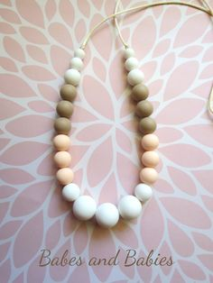 Silicone Teething Necklace by Babes and Babies on Etsy!