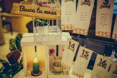 Detalles de una boda: seating plan boda. Listas mesas bodas. boda temática flores.