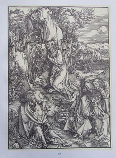 ALBRECHT DÜRER CHRISTUS AM ÖLBERG ABENDMAHL 2 Reproduktionen Kunstdrucke