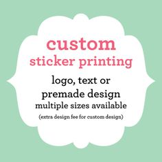 Custom Sticker Printing - ONE SHEET Matte, Gloss, or Kraft Brown - Use Your Own Logo or text - Multiple Sizes Available ROUND