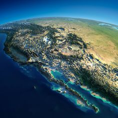 Relief map of western United States