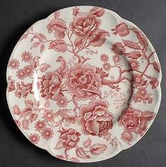 british dinner plates | Johnson Brothers ENGLISH CHIPPENDALE RED PINK Dinner Plate S276139G3