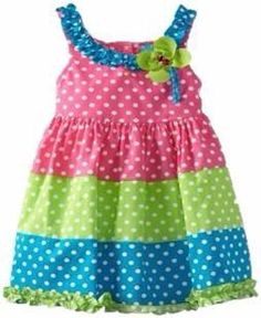 Rare Editions Little Girls' Colorblock Woven Dress, Multi Colored, Different Stylish Frock Design Collection - Crazzy Crafts Toddler Dress, Toddler Outfits, Baby Outfits, Toddler Girl, Kids Outfits, Baby Girls, Little Dresses, Little Girl Dresses, Cute Dresses