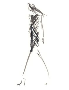 black and white london fashion illustration drawings - Google Search