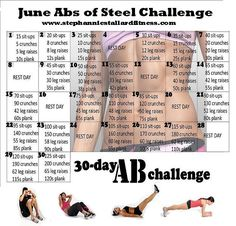 It's a start right??? June Abs of Steel Challenge ---Stephannie Stallard Fitness