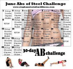 June Abs of Steel Challenge