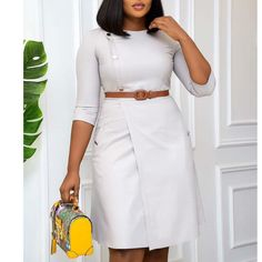 Short African Dresses, African Fashion Dresses, African Lace, Jean Dress Outfits, Corporate Attire Women, Lace Dress Styles, Classy Work Outfits, Collar Pattern, Shirtdress