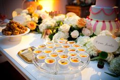 I so want creme brulee on my dessert table!  B loves this dessert... and it is a fav of his sister and mom too.