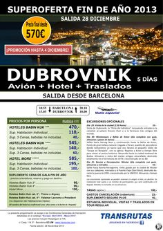DUBROVNIK Fin de año ¡promoción hasta 4 Diciembre! salidas Barcelona 28-12: 5 días desde 570€ ultimo minuto - http://zocotours.com/dubrovnik-fin-de-ano-promocion-hasta-4-diciembre-salidas-barcelona-28-12-5-dias-desde-570e-ultimo-minuto-2/