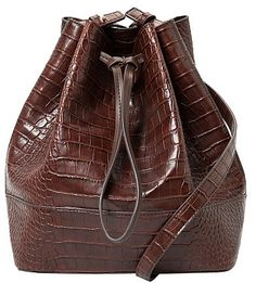 473402dcd Womens chocolate bucket bag from Mango - £44.99 at ClothingByColour.com
