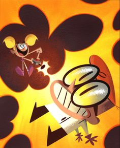 Dexter's Lab Golden Book Cover by Scott Wills (2000) Acrylic