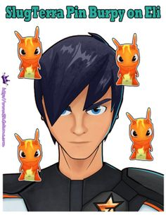printable Pin the burpy on Eli, play it like Pin the tail on the Donkey ~ Free Slugterra Party Printables, and Crafts   SKGaleana #Slugterra