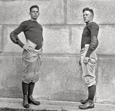 """1913. Annapolis, Maryland. """"U.S. Naval Academy football team."""" Composite of two 5x7 glass negatives by Harris  Ewing."""