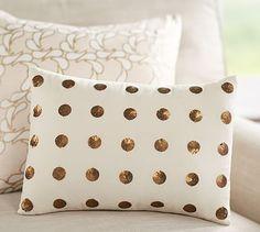 Anza Sequin Dot Pillow: So cute for a teen girl.