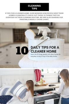 10 Tips for a Cleaner Home A new year means new routines for the family. Our 10 cleaning tips can help you maintain a cleaner home this year. We're also sharing how our appliances are helping us with our daily chores. Deep Cleaning Tips, House Cleaning Tips, Diy Cleaning Products, Spring Cleaning, Cleaning Hacks, Cleaning Solutions, Weekly Chores, Types Of Sofas, Clean Dishwasher