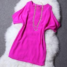 Free Shipping Ladies Dress Silk Short Mini A-line Female Dress Women Summer Dresses S/M/L/XL $61.80