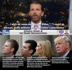 """Post with 3466 votes and 165592 views. Tagged with donald trump, maga, donald trump jr; Shared by """"I wish my name was Hunter Biden"""" Biden Trump, Trump Bankruptcies, Putin Trump, Trump Lies, Trump Idiot, Trump Quotes, Trump Cartoons, The Trump Organization, Political Quotes"""