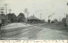 CAMBRIDGE SPRINGS-ERIE  RR STATION 1906