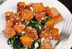 Pečená tekvica so špenátom, syrom a medovo-cesnakovou zálievkou Pork, Ethnic Recipes, Sweet, Pork Roulade, Pigs, Pork Chops