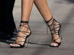 Black strap #high #heels