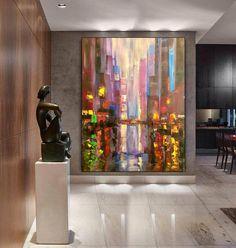 Original Abstract Painting Canvas Wall Art Bedroom Decor image 1 Large Canvas Wall Art, Abstract Canvas Art, Oil Painting On Canvas, Bathroom Wall Art, Office Wall Art, Texture Art, Wall Prints, Bedroom Decor, Shades