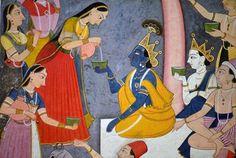 Kala Ksetram, Radha & Krishna, Balarama, gopis and gopas.