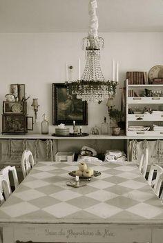 kitchen table, super fun project.