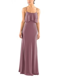 f37ad77c4b5 The classic Jenny Yoo Blake bridesmaid dress in Fig is the perfect bridesmaid  dress for fall