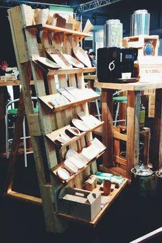 Wooden wall Store Displays, Wooden Walls, Wine Rack, Desk, Storage, Furniture, Home Decor, Wood Walls, Purse Storage