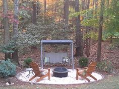 Firepit ideas in the woods