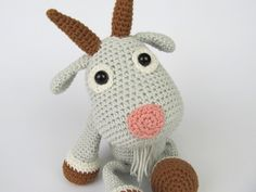 Goat Lisa - Amigurumi Crochet Pattern / PDF e-Book / Stuffed Animal Tutorial by DioneDesign on Etsy https://www.etsy.com/listing/187710400/goat-lisa-amigurumi-crochet-pattern-pdf