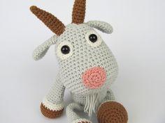Goat Lisa - Amigurumi Crochet Pattern / PDF e-Book / Stuffed Animal Tutorial by DioneDesign on Etsy https://www.etsy.com/listing/187710400/goat-lisa-amigurumi-crochet-pattern-pdf