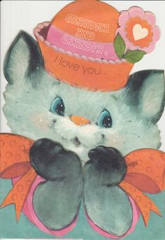 1960s 1970s Valentines Day Card for by StuckyEstateSale on Etsy