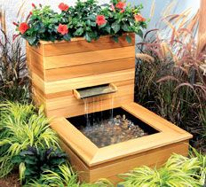 DIY Landscaping & Garden, Masonry Projects, Woodworking Plans & Projects - Simple Water Fountains