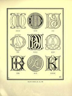 Monograms & ciphers - D & J Script Lettering, Typography, Lettering Ideas, Initial Jewelry, Calligraphy Alphabet, Monogram Fonts, Letter Logo, Learn To Draw, Embroidery Patterns