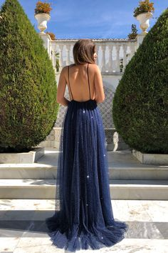 Navy A-line Sparkly Deep V-neck Backless Tulle Charming Prom Dress, FC – OkBri. - Navy A-line Sparkly Deep V-neck Backless Tulle Charming Prom Dress, FC – OkBridal - Pretty Prom Dresses, Backless Prom Dresses, Mermaid Prom Dresses, Homecoming Dresses, Gala Dresses, Ball Gown Dresses, Dressy Dresses, Matric Dance Dresses, Prom Outfits