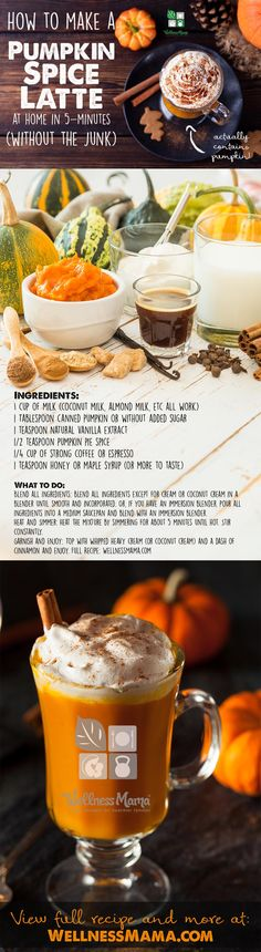 How to make pumpkin spice latte at home with coconut or almond milk