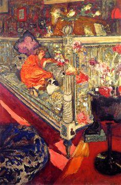 Yvonne Printemps on the Sofa Edouard Vuillard - 1919-1921